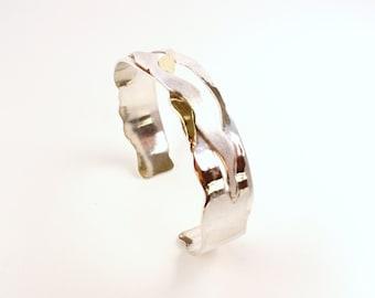 Silver/gold span bracelet