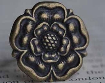Antique Brass Lily Ring