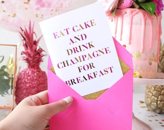 Fabulous Verjaardag Card vriendin Verjaardagskaart voor haar Chique #ZV11