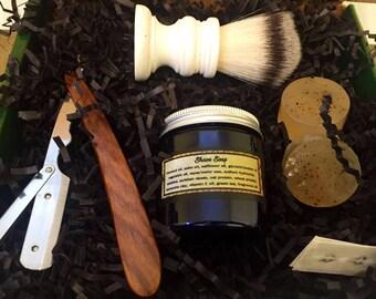 Mens Shaving Kit, Mens Grooming Kit, Valentines Gift Set, Gift for Dad, Shaving Gift, Groomsmen Gift, for him, Mens Shave Set Antique