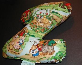 Soft Stuffed Nursery Rhyme Letter Pillow