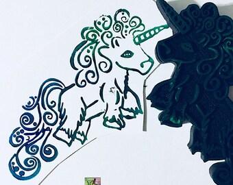 Unicorn stamp, Unicorn Parties,
