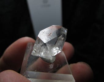 21 carat water clear carbon included herkimer diamond quartz from New York USA