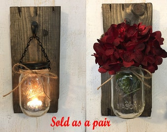 Candle holders rustic candle holders candles mason jar candle sconces 2600 wall decor wall hangings rustic wall decor rustic wall hangings wood wall aloadofball Image collections