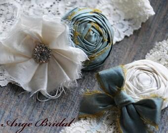 Wedding Garter Set, SILK Wedding Garter, Slate color wedding Garter/ Wedding garter/ Bridal garter/ Silk garter