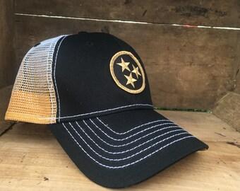 Black & Gold Tennessee Tristar Hat