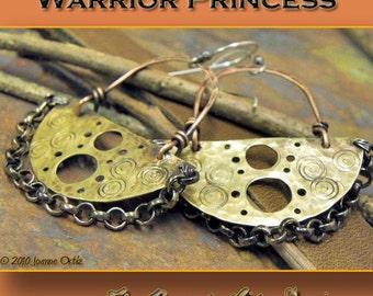 Warrior Princess earrings Tutorial, PurpleLily Designs