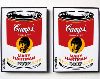 Mary Hartman, Mary Hartman Pop Art Soup, framed original art set by Zteven