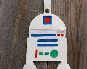 R2d2 robot Star Wars Inspired Purse, Star Wars gift, unique gift, stocking stuffer, gift for friend, gift for coworker, mini purse, RtwoDtwo