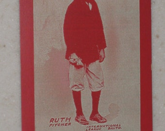 1914 Baltimore International League Babe Ruth Rookie Card Red Version