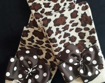 Leopard print, baby girl leg warmers, animal print leggings for girls, little diva baby girl outfit