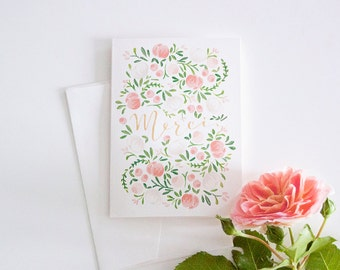 "Thank You Card - Greeting Card ""Merci"""