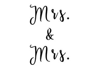 Mrs. and Mrs. Decal