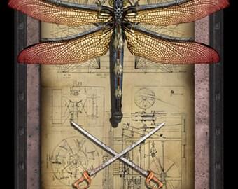 Crypto-Entomology Art Print by Brian Giberson - The Dragoonfly