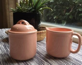Vintage Japanese Sugar Bowl & Creamer Set