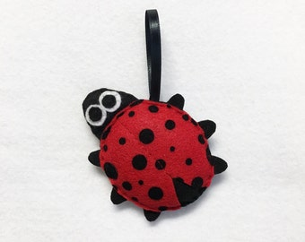 Lady Bug Ornament, Ladybug, Christmas Ornament, Lars the Ladybug, Felt Animals, Insect, Gift Topper