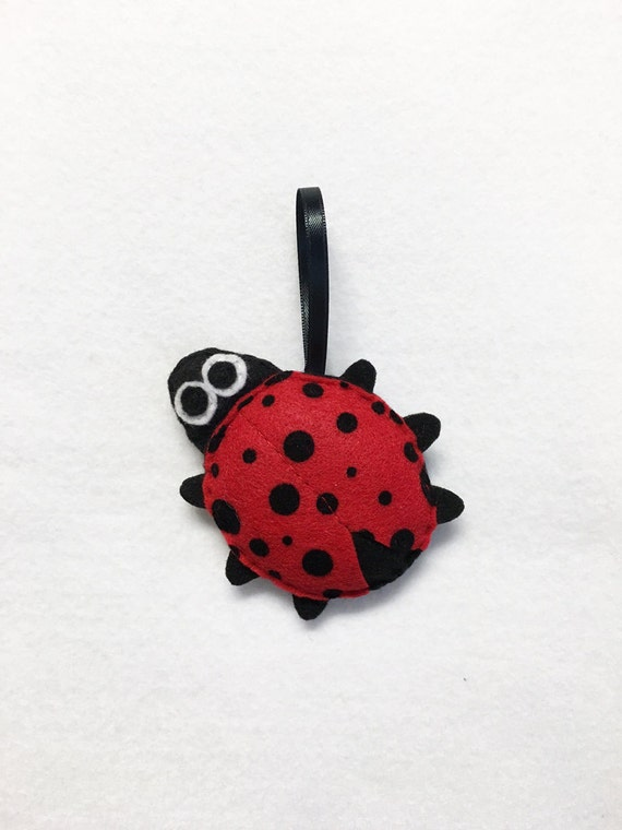 Lady Bug Ornament, Ladybug, Christmas Ornament, Lars the Ladybug, Felt Animals, Insect, Gift Topper