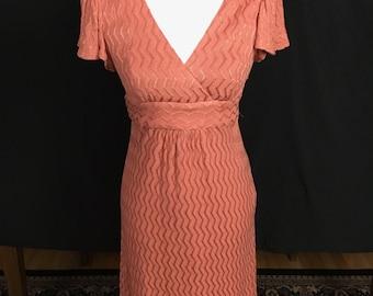 90's  Betsey Johnson Desert Rose Flutter Sleeve Dress
