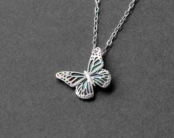 Fine Silver Butterfly Necklace - Handcrafted Silver Jewelry - Silver Butterfly - Fine Jewelry - Butterfly Jewelry