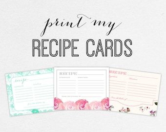 Printing Services - Recipe Cards