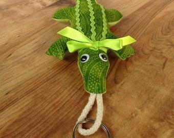 Fabric Alligator keychain, ornament, accessory