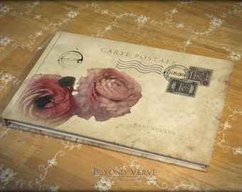 Handmade Guest book - Wishbook - Album with personalized cover like a carte postale
