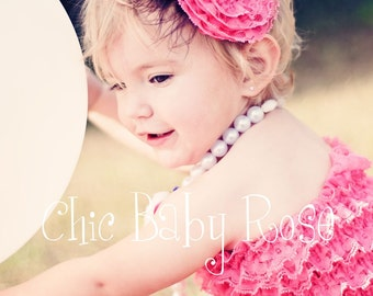 Lace Rosette and Feather Fascinator Clip or Band in 22 Colors by Chic Baby Rose