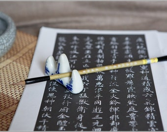 Free Shipping 1.8x0.5x21cm Pure Weasel Hair Outline Brush - Bamboo Handle - Oriental Calligraphy Painting - 0040