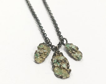 Forrest Dew Enamelled Petal Necklace