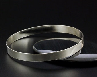 Simple Sterling Silver Cuff Bangle - 6.3mm