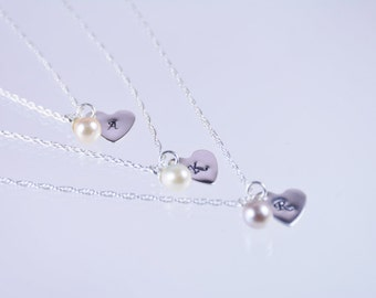 Bridesmaid necklace set of 4. Set of 4 necklaces. Bridesmaid gift. Sterling silver or Gold filled