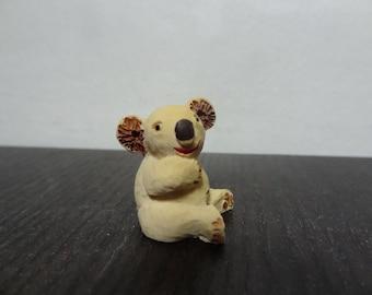 Vintage Miniature Ceramic Koala Figurine