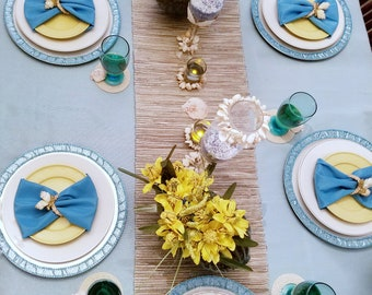Beach Relaxation Tablescape