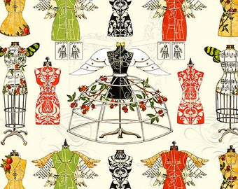 Sewing Forms, Christmas Fabric, Holiday Best Dress - Angel Band Festive Dressforms , JW Frisch - QT Fabric 23523 E -  Priced by the Panel