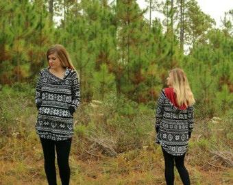 Driftwood Hoodie PDF Pattern Women XS-XXXL