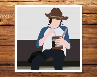 Carl Eats Pudding - The Walking Dead Giclee Print