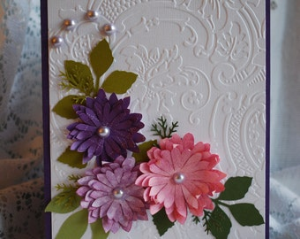 Any Occasion Handmade Multi Paper Layering 3D Greeting Card