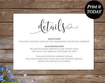 Wedding information Etsy