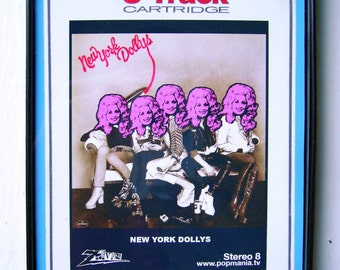 Dolly Parton New York Dolls 8-Track Tapes (and Japes) Pop Art, by Zteven