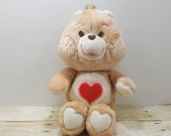 Tenderheart Bear, 1983, Care Bear plushie, 1980s toys