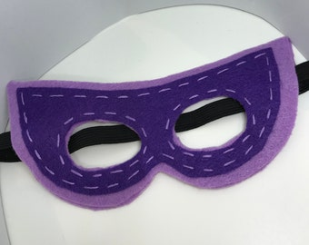 Superhero Mask - Customize and Personalize any colour - Light Purple/Dark Purple