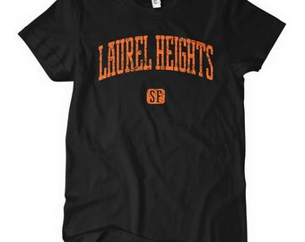 Women's Laurel Heights SF T-shirt - S M L XL 2x - Ladies' San Francisco Tee, California, Bay Area - 4 Colors