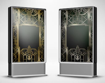 Great Gatsby Background Digital Banner Sign & PSD 2ftx3ft