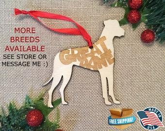 Great Dane Christmas Ornament *** Dog Christmas Ornament *** Dog Breed Ornament  ***Dog Lover Gift *** Christmas Holiday Ornament ***
