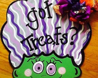 Halloween signs, halloween door sign, monster door sign, haunted house door sign, monster mash sign, bride of Frankenstein sign, fall sign