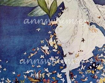 """Vogue Art Print For the Bride """"The Fairy Bride""""  RESTORED Antique Arrt Print  1913 Vogue Print #187"""