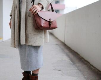 Hand Stitched Leather Shoulder Bag/ Carry On Bag