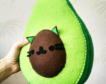 Avocado Plush-AvoCATo Pillow- Small Pillow