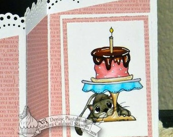 2140 Kitty Cake Digi Stamp