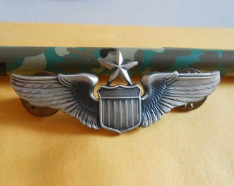United States Air Force Senior Pilot Wings Badge by GI (KREW) (T3)
